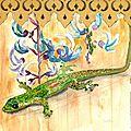 Page 3 Gecko vert poussière d'or