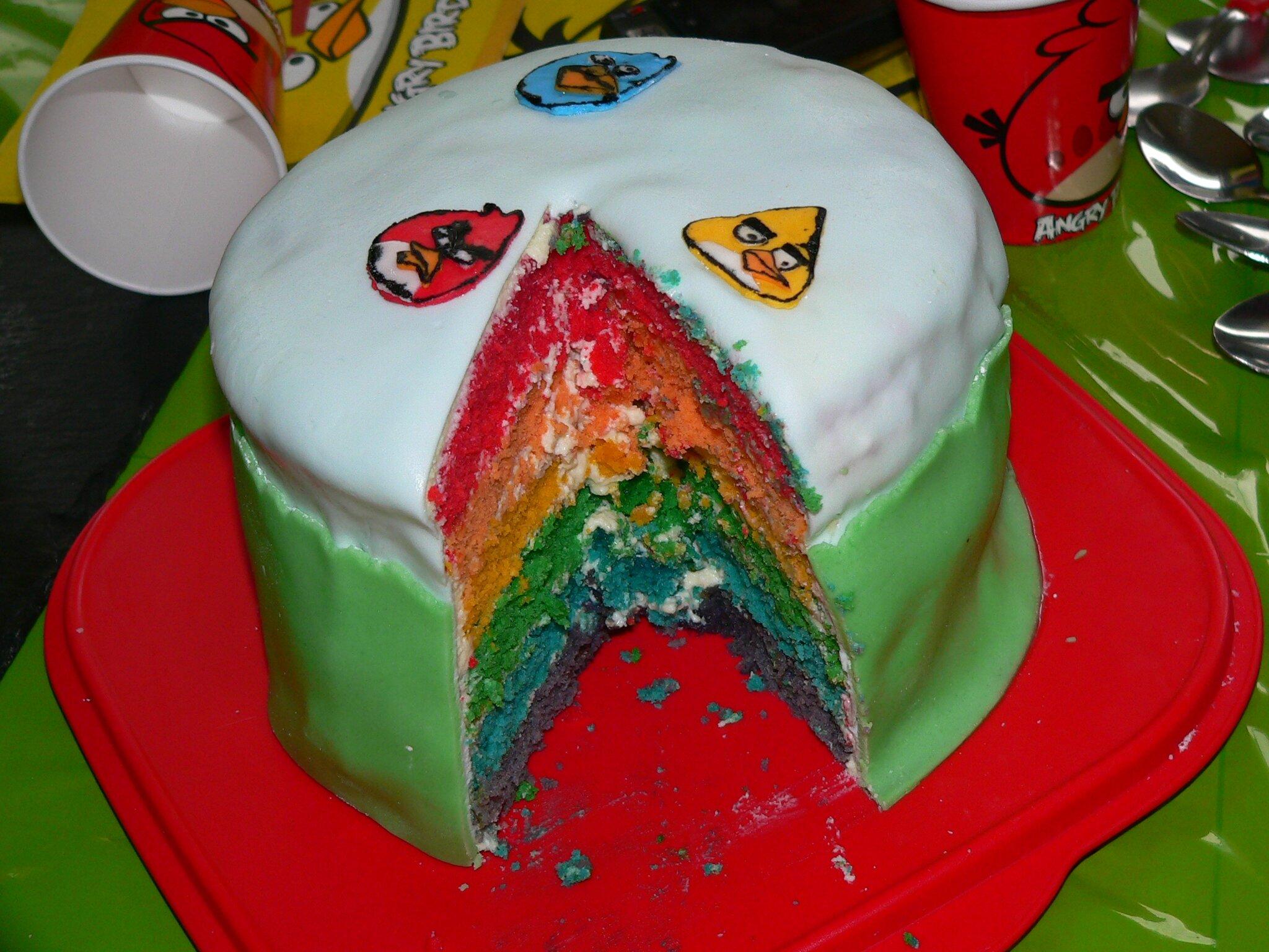 Gâteau arc en ciel à la noix de coco La fée cuistot