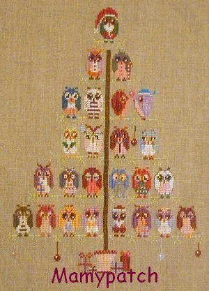 Le calendrier de l 39 avent l 39 arbre chouettes le blog de mamypatch - Arbre de l avent ...