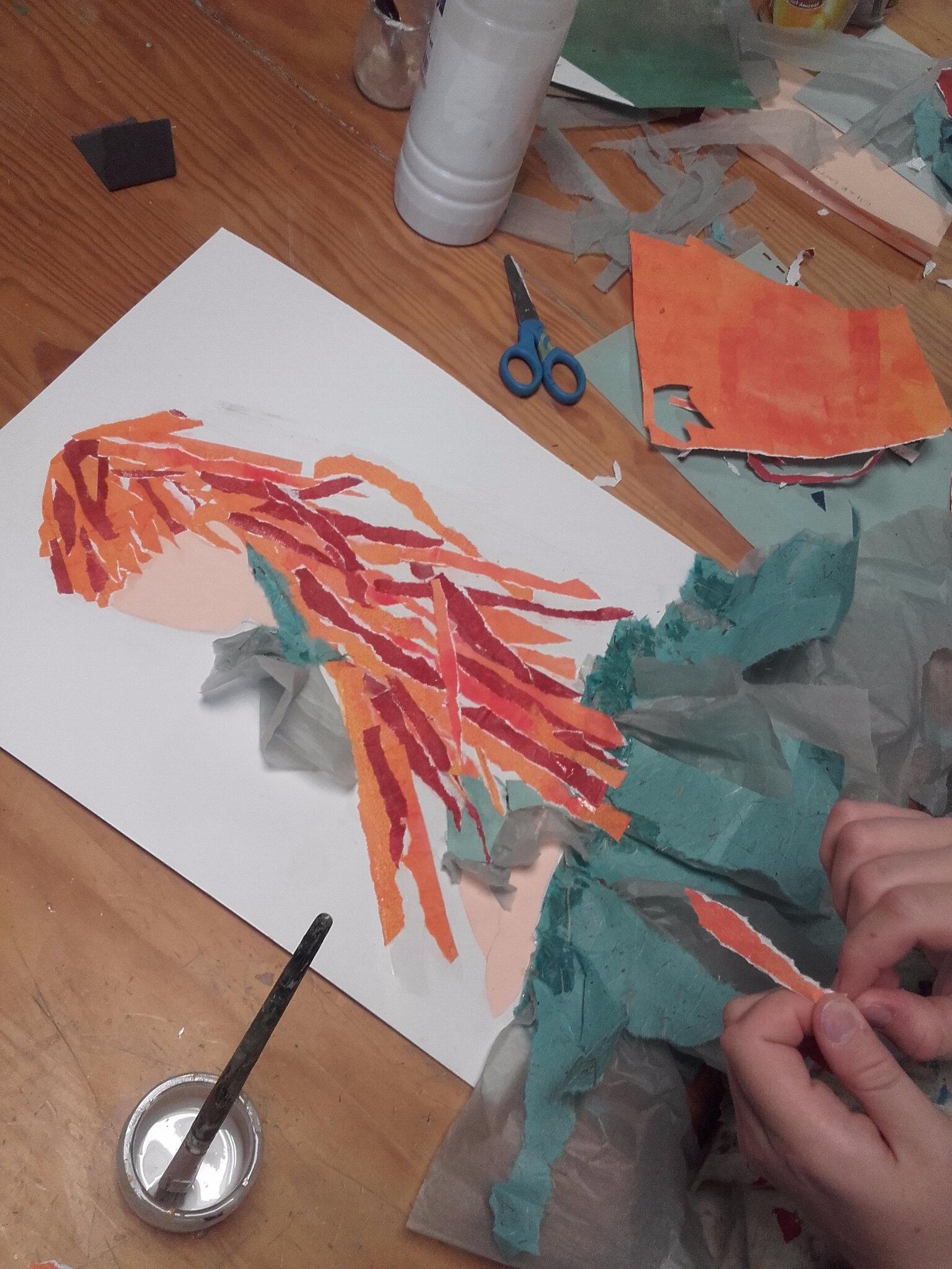 De la peinture au collage... et retour