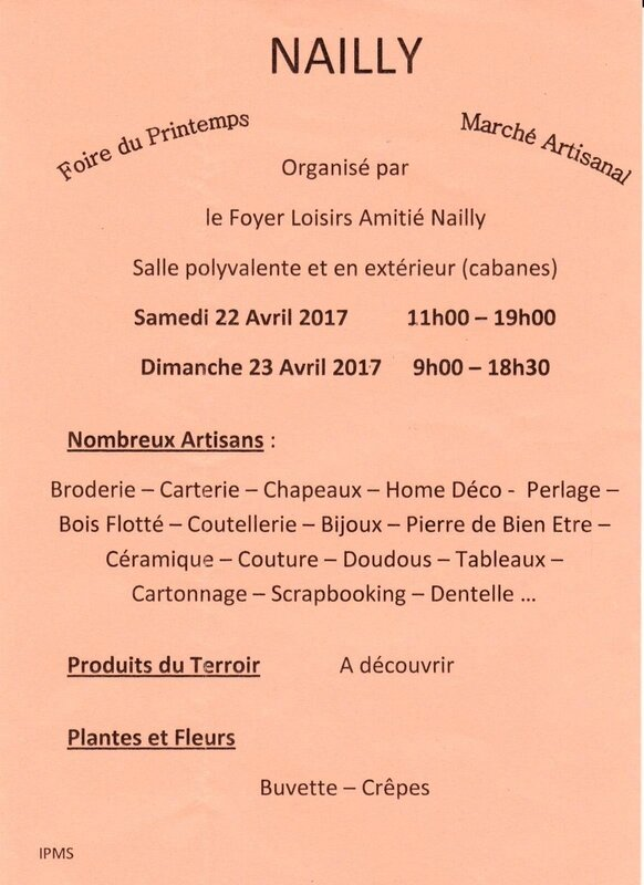 AFFICHE SALON ARTISANAT NAILLY