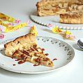 Tarte fine aux pommes & crème de carambar