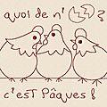 Motif gratuit : poules de pâques - free design : easter chickens