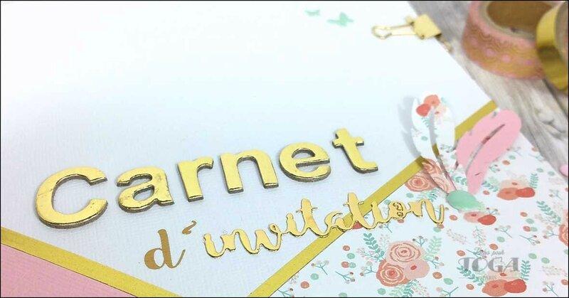 Carnet d'invitation PPK coeurs DT Tacha 3p