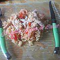 Riz au poulet et à la tomate