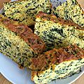 Cake salé aux épinards sans gluten