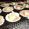 Tartelettes bacon - saint nectaire...