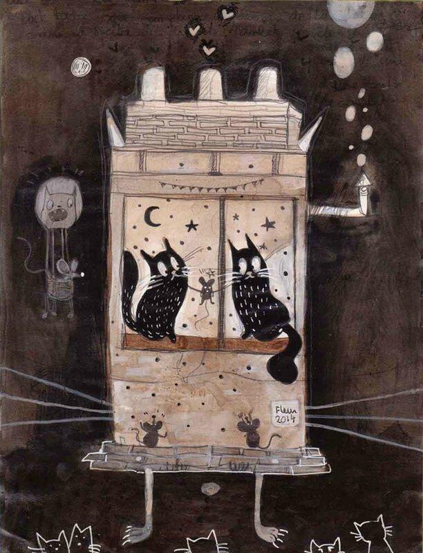 les chats miaulent la nuit