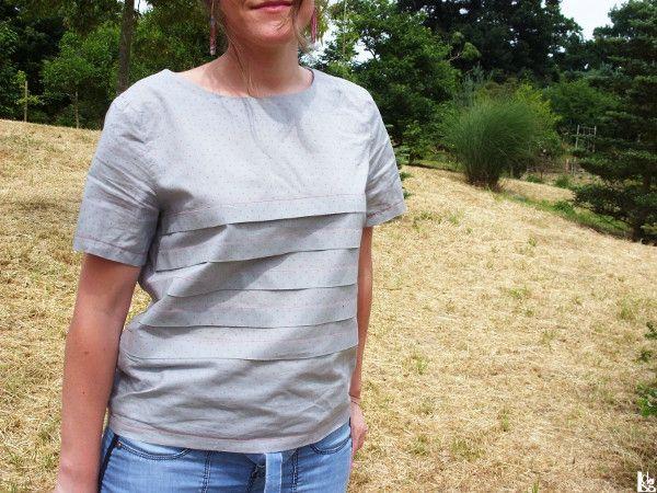 Loose Fitting Pleated T-shirt -lesondesgrelots2