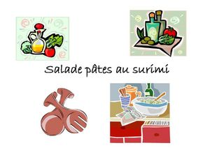 salade de p tes au surimi les recettes de nath. Black Bedroom Furniture Sets. Home Design Ideas