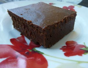 fondant chocolat marron sans beurre