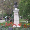 Ion Ghica bust in park