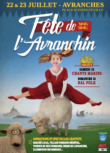 Fête de l'Avranchin de retour à Avranches (50) - samedi 22 et dimanche 23 juillet 2017