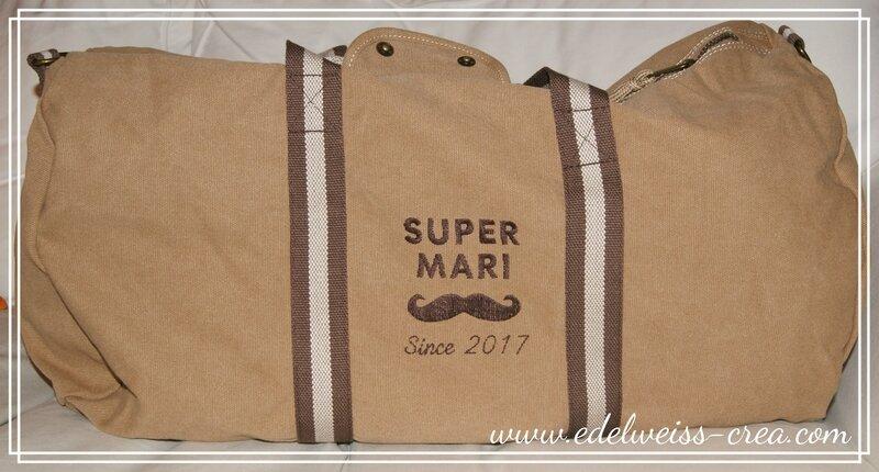 Sac de voyage vintage XXL - Super mari since 2017