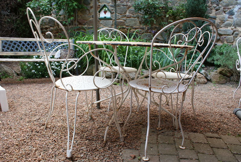 Stunning table jardin ancienne fer forge ideas - Table fer forge exterieur ...