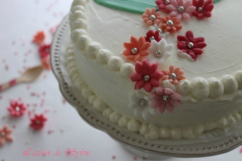 decoration gateau creme chantilly