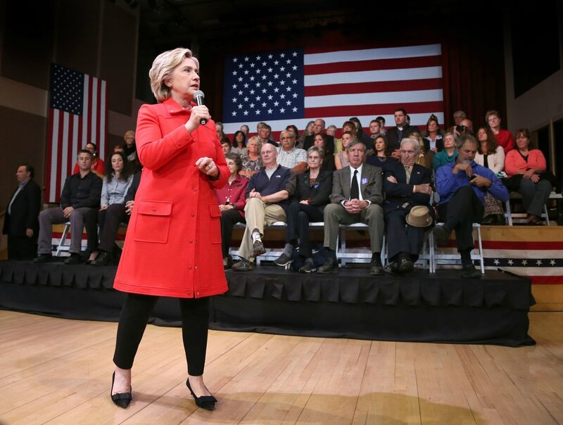 Hillary Clinton holding a town meeting