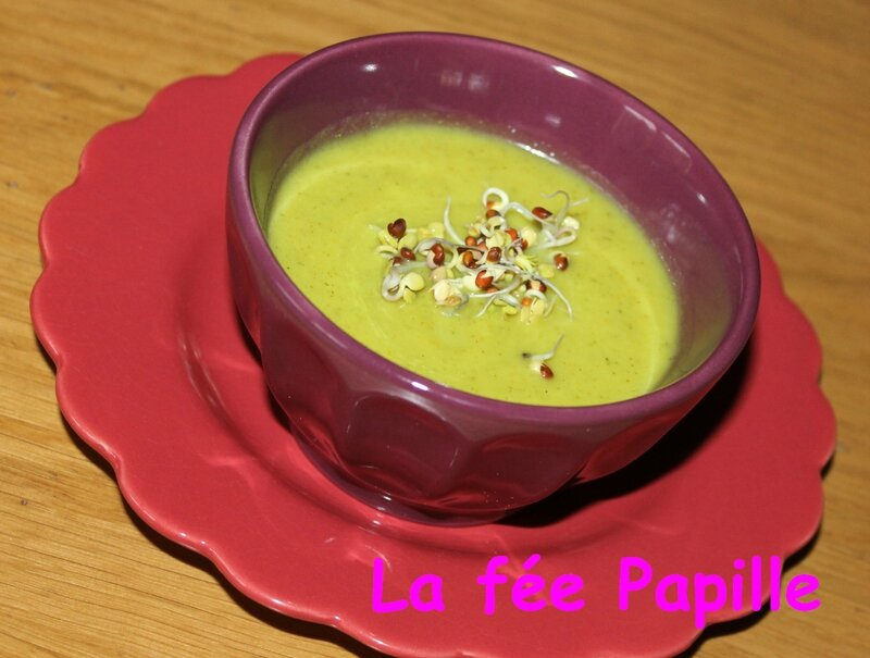 velouté froid courgette curry