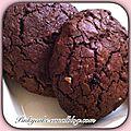 Cookies aux chocolat et beurre de cacahuète, sans gluten et sans lactose