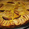 Tarte aux pommes avec sablees breton