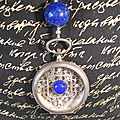 collier steampunk lapis
