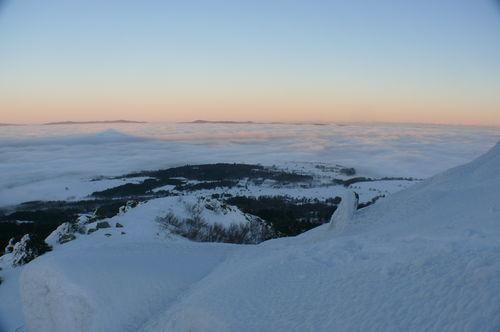 2008 12 24 Mer de nuages vu depuis le Lizieux