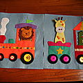Quiet book page 1 - petit train - train