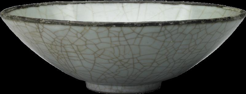 Bol en porcelaine guanyao à glaçure blanc-bleutée, Dynastie Song