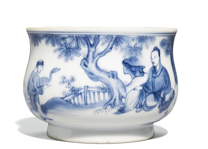 A Blue and White Censer, Ming Dynasty, Chongzhen Period (1627-1644)