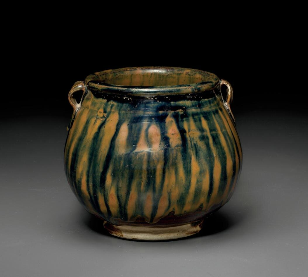 A rare russet-streaked blackish-brown-glazed jar, Song dynasty (AD 960-1127)