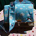 Un sac pour un trousseau de naissance