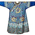 A chinese twelve symbol emperor's semi-formal court robe, jifu, qing dynasty (1644-1911), circa 1850