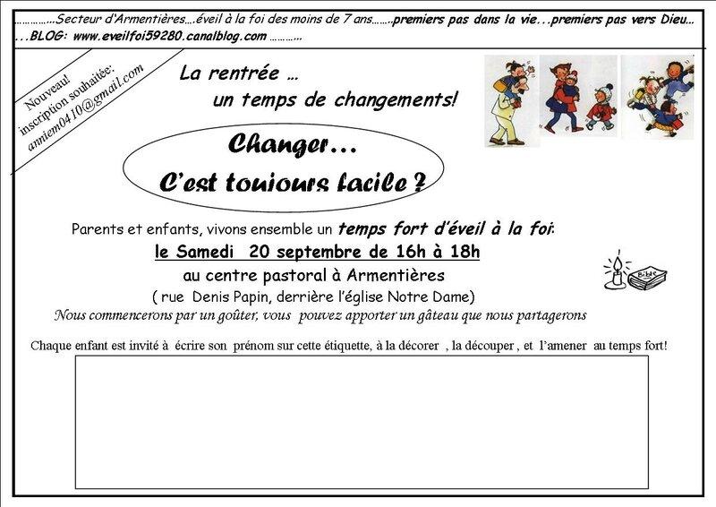 invitation CHANGER temps fort sept 2014