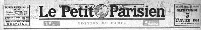 Le petit parisien le 5 janvier 1944_1