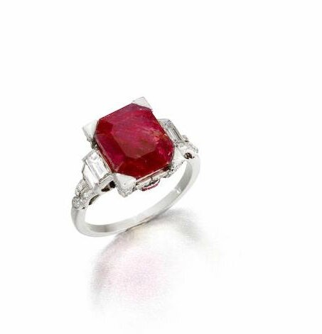 A ruby and diamond ring, circa 1930