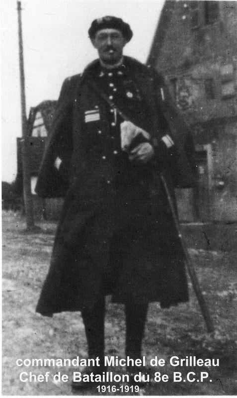 Le commandant de GRILLEAU, CDT le 8e B.C.P. en 1916/1919