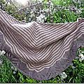 Couleurs chalk & clay pour mon shawl dream stripes