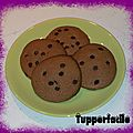 Cookies nutella - pepites de chocolat (micro plus)