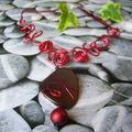Collier rouge mélée