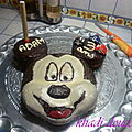 gteau Mickey au chocolat fourr
