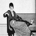 Dessin de mode pour tenue d'intérieur, 1913
