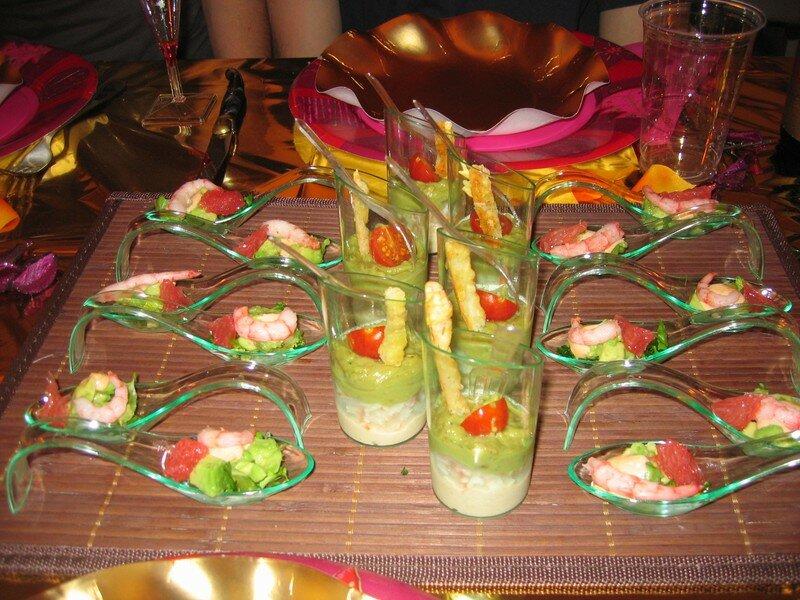 Menu du nouvel an 2007 les petits plats de c line - Amuse bouche nouvel an ...