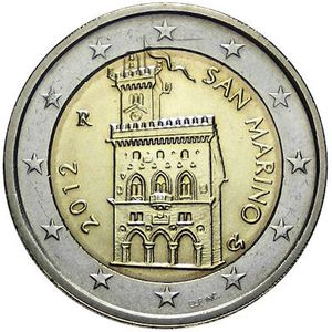 2 Euros commemorative Saint-Marin 2012 - Piece neuve UNC
