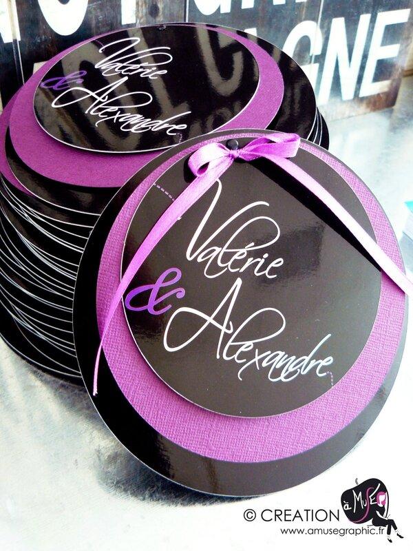 faire part cercle aux prenoms violet©