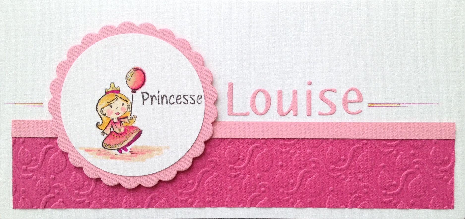 Extrem Carte pour le 1er anniversaire d'une petite princesse - Les  CI18