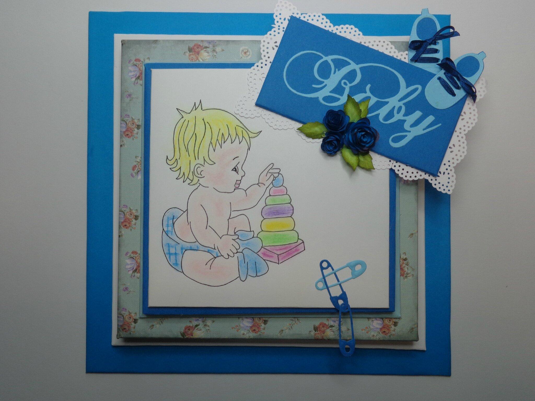 """Cadre bébé """"bleu"""""""