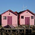 les cabanes roses au Château