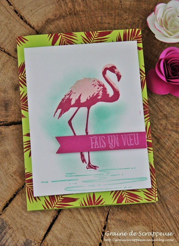 Carte fabuleux flamant stampin'up