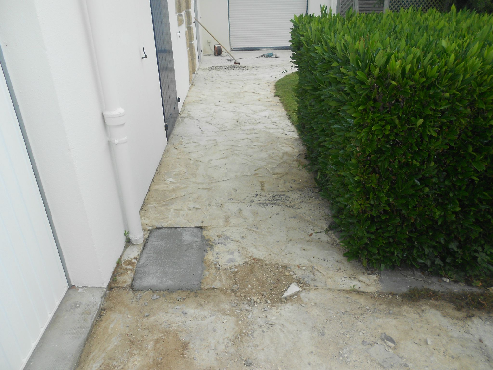Remplacement ancien dallage par du carrelage en 4 formats for Ragreage avant carrelage