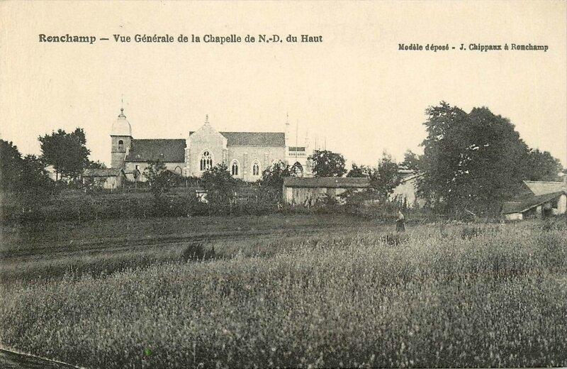 CPA Ronchamp Notre-Dame du Haut 1927 Vue générale